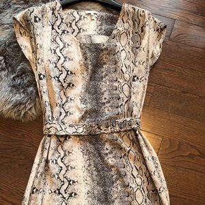 Joie Messa snakeskin print silk dress XS
